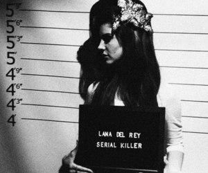 lana del rey, serial killer, and black and white image