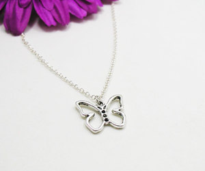 etsy, monarch butterfly, and charm necklace image