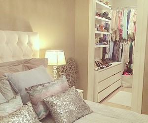 bedroom, room, and closet image