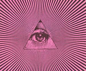 eye, triangle, and illuminati image