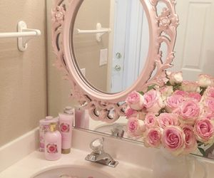 pink, rose, and mirror image