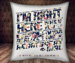 5 second of summer, pillow case covers, and pillow case custom image