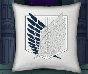 pillow cases, attack on titan, and pillowcase pattern image