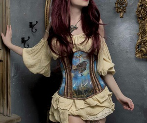 model, steampunk, and steamgirl image