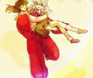fan art, inuyasha, and anime couple image