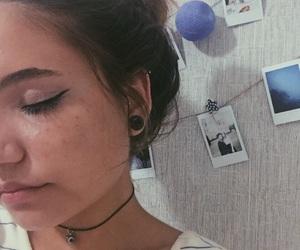 choker, ear, and hair image