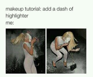 makeup, funny, and me image
