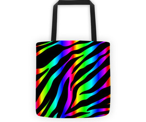 animal print, rainbow, and rainbow stripes image