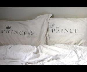 prince, princess, and bed image