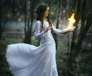 fantasy, fire, and girl image