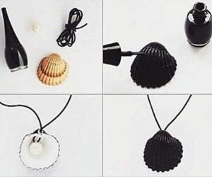 diy, necklace, and shell image