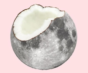 coconut, moon, and pink image