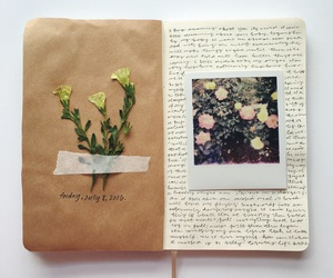 flowers, journal, and aesthetic image