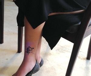 black, black dress, and tattoo image