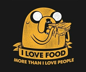 food, adventure time, and JAKe image
