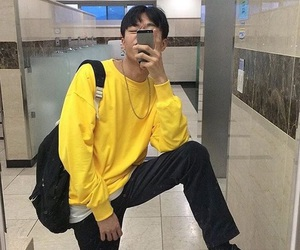 asian, boy, and yellow image