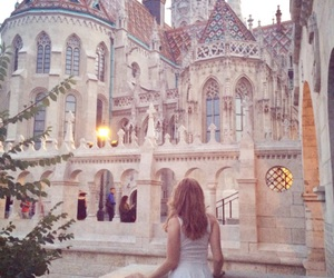 budapest, castle, and dress image