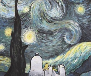 snoopy, art, and gif image