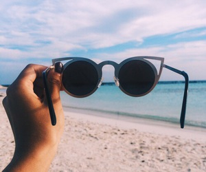 summer, beach, and glasses image