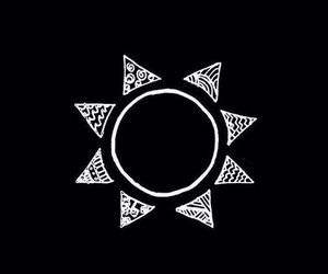 wallpaper, sun, and black image