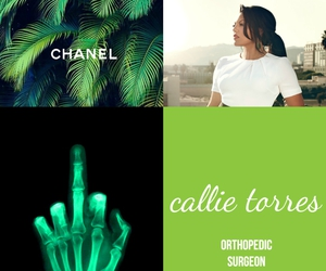 green, med, and callie torres image