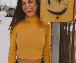 yellow, girl, and smile image