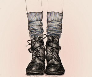 drawing, shoes, and boots image