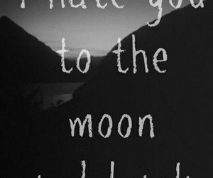 hate, moon, and quotes image