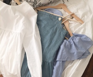 blue, clothes, and pastel image