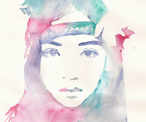 art, painting, and watercolors image