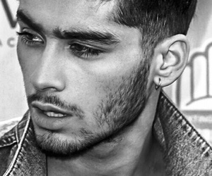 black and white and zayn image