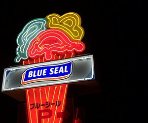ice cream, ice cream parlor, and blue seal image