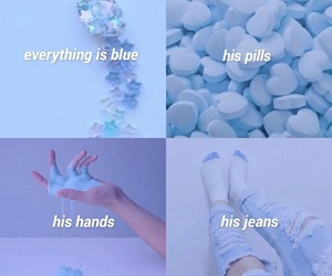 halsey, colors, and blue image