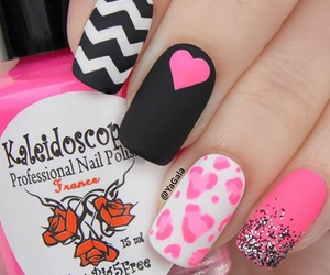 black, love it, and nails image
