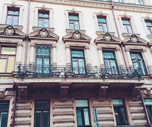 architecture, autumn, and balconies image