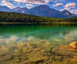 lake, mountains, and landscape image