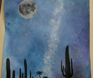 art, cactus, and desert image