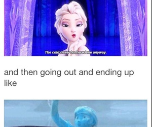 frozen, cold, and funny image