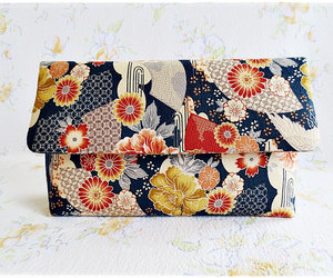 etsy, envelope clutch, and yellow orange purse image
