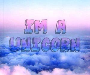 unicorn, sky, and clouds image