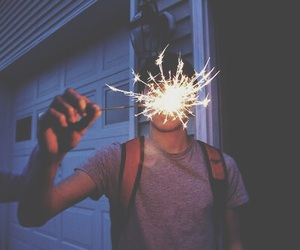 boy, fireworks, and life image
