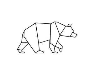 bear, black and white, and drawing image