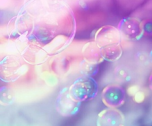 bubbles, pink, and pastel image