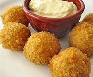 Chicken, cooking, and cheese balls image