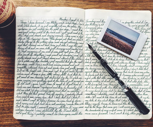 handwriting and journal image