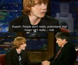 harry potter, rupert grint, and magic image