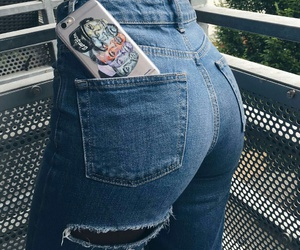 jeans, n.w.a, and ripped jeans image