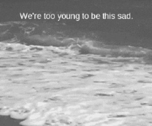 sad, young, and black and white image