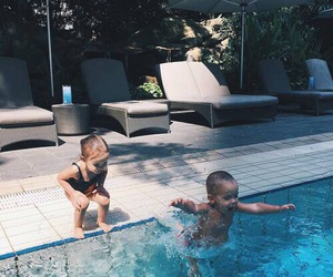 baby, summer, and kids image