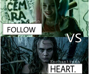 enchantress, harley quinn, and suicide squad image